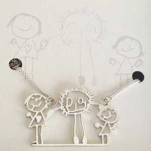 Childs Art on Necklace