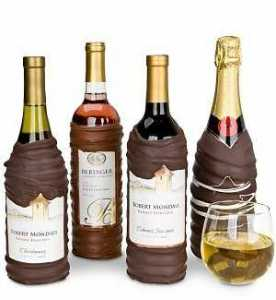 Chocolate Dipped Wine Bottle