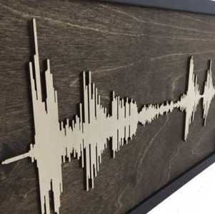 Soundwave Art on Wood
