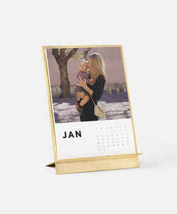 Brass Photo Calendar