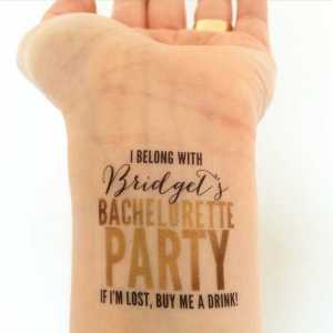 Bachelorette Party Temporary Tattoo